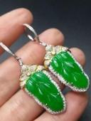 陽綠樹葉耳環