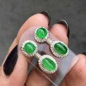 冰陽綠耳環套裝
