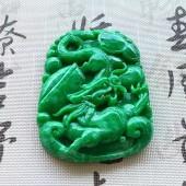 細膩辣色陽綠龍牌