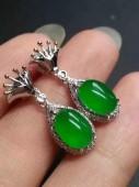 完美陽綠耳環