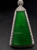 18k金鑽豪鑲鑲極品高冰滿綠綠平安無事牌