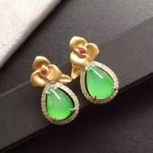 豪鑽冰綠耳環(已售)