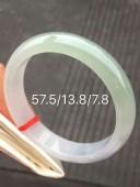 糯冰種帶底色正圈手鐲57.5