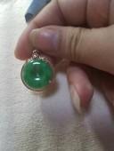 18k金鑽鑲滿綠平安扣(已做香港玉石證書)