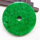 辣綠陽綠翡翠大平安扣