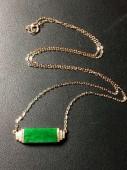 18K金鑽鑽滿綠鎖骨鏈